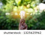green energy concept energy... | Shutterstock . vector #1325625962