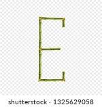 vector bamboo alphabet. capital ... | Shutterstock .eps vector #1325629058