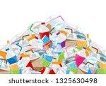 illustration of pile garbage... | Shutterstock .eps vector #1325630498