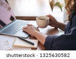 closeup image of a woman... | Shutterstock . vector #1325630582
