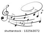 illustration of the musical... | Shutterstock .eps vector #132563072