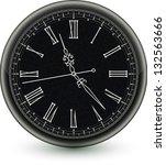 wall clock   Shutterstock .eps vector #132563666