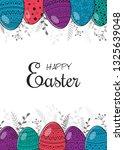 concept of an easter brochure... | Shutterstock .eps vector #1325639048