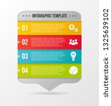 colorful infograph with... | Shutterstock .eps vector #1325639102