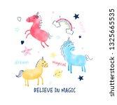 sweet unicorn illustration... | Shutterstock .eps vector #1325665535