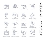 set of 16 thin linear icons... | Shutterstock .eps vector #1325696402