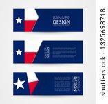 set of three horizontal banners ... | Shutterstock .eps vector #1325698718