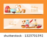 baking time set of banners.... | Shutterstock .eps vector #1325701592