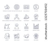 set of 16 thin linear icons... | Shutterstock .eps vector #1325703452