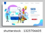 social media marketing landing... | Shutterstock .eps vector #1325706605
