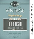 Vintage Retro Page Template For ...