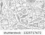 hand drawn magic tools  concept ... | Shutterstock .eps vector #1325717672