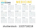 collection of vector line icons ... | Shutterstock .eps vector #1325718218