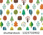 scandinavian tree pattern   Shutterstock . vector #1325733902