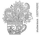 stylized with henna tattoos... | Shutterstock .eps vector #1325743292