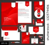 red corporate identity template ... | Shutterstock .eps vector #132574406