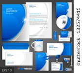 blue corporate identity... | Shutterstock .eps vector #132574415