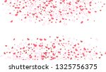spring background. red hearts... | Shutterstock .eps vector #1325756375