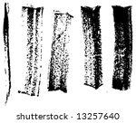 grungy brush strokes set | Shutterstock .eps vector #13257640