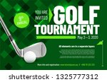 template for your golf...   Shutterstock .eps vector #1325777312