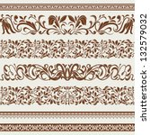 set of borders and ornaments ... | Shutterstock .eps vector #132579032