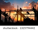 silhouette of work safety... | Shutterstock . vector #1325794442