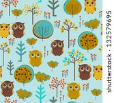 Cute Colorful Vector With Owl...