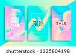 summer sale banner pastel color.... | Shutterstock .eps vector #1325804198