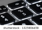 black keyboard with backlight   ... | Shutterstock . vector #1325806658