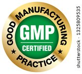 gmp  good manufacturing... | Shutterstock .eps vector #1325809535