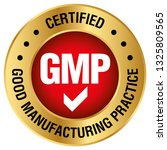 gmp  good manufacturing... | Shutterstock .eps vector #1325809565