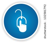 click here sign vector | Shutterstock .eps vector #132581792