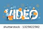 video concept illustration....   Shutterstock . vector #1325822582