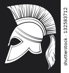 spartan helmet (illustration of an ancient greek warrior helmet, spartan helmet, trojan helmet or gladiator helmet)