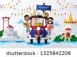 songkran festival  thailand... | Shutterstock .eps vector #1325842208