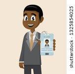 cartoon character  african... | Shutterstock .eps vector #1325854025