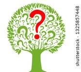 question mark poster. tree of... | Shutterstock .eps vector #1325857448