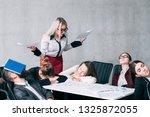 business meeting failure.... | Shutterstock . vector #1325872055