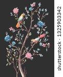 watercolor illustration of... | Shutterstock . vector #1325903342