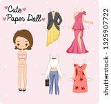 cute paper doll girl   vector... | Shutterstock .eps vector #1325907722