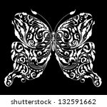 floral butterfly card for your... | Shutterstock . vector #132591662