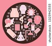menstruation period round...   Shutterstock .eps vector #1325942555