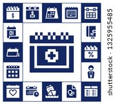 schedule icon set. 17 filled... | Shutterstock .eps vector #1325955485