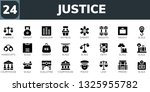 justice icon set. 24 filled...   Shutterstock .eps vector #1325955782