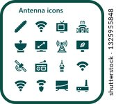 antenna icon set. 16 filled... | Shutterstock .eps vector #1325955848