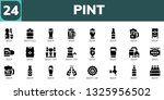 pint icon set. 24 filled pint... | Shutterstock .eps vector #1325956502