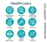 health laws and legal icon set  ... | Shutterstock .eps vector #1325967122