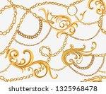 hand drawn baroque striped... | Shutterstock .eps vector #1325968478