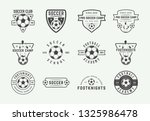 set of vintage soccer or... | Shutterstock .eps vector #1325986478