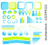 infographics elements collection | Shutterstock . vector #132599222